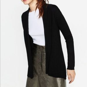ZARA KNIT 'Draped Neck' Cardigan